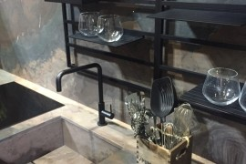 Innovative kitchen shelves and storage ideas from Maistri