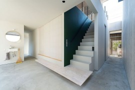 Interior of Go Bang House in Nagaoka, Japan