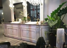 It is not all contemporary as classi designs make a mark at the Scavolini stand