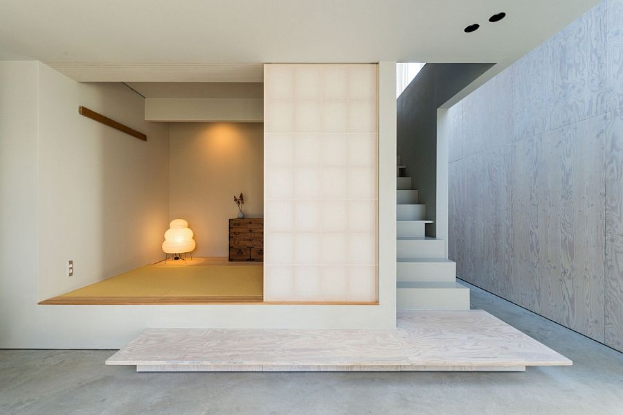 Japanese styled room and Doma on the lower level of the house