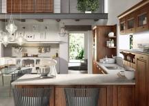 L-Shaped kitchen design from Arrital