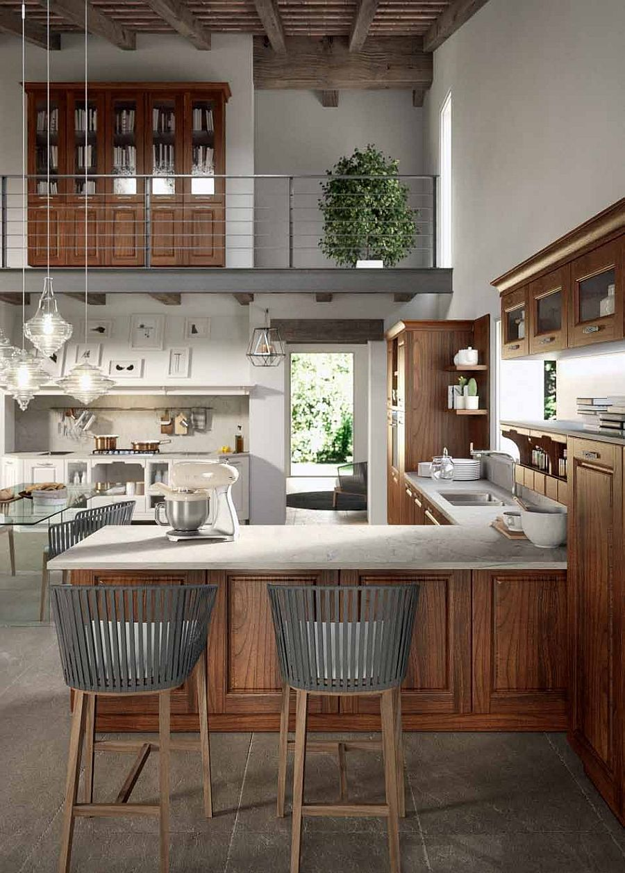 L-Shaped kitchen design from Arrital