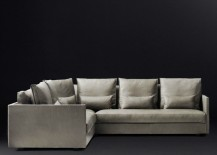 Leather corner sectional from RH Modern 217x155 Space Saving Corner Furniture Finds