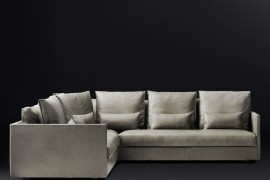 Leather corner sectional from RH Modern