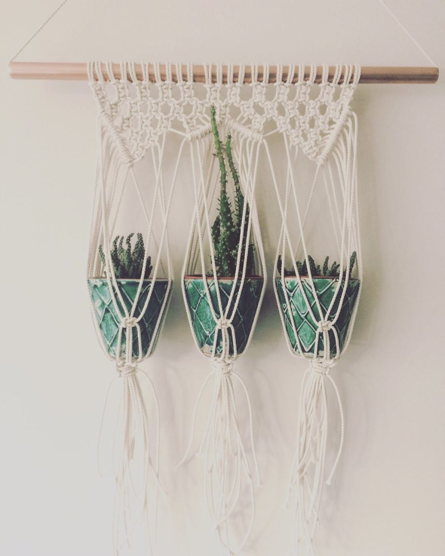 Macrame plant hanger from Etsy shop Macrame Adventure