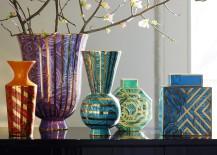 Malachite vases from Jonathan Adler