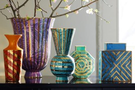 Malachite vases from Jonathan Adler