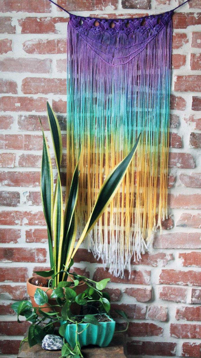 Macrame wall hanging from Etsy shop Slow Down Productions