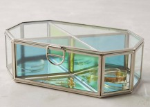 Metal and glass jewelry box from Anthropologie