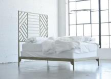 Metal geo bedframe from Jenifer Janniere Designs 217x155 Metal Meets Geo: Unique Modern Decor
