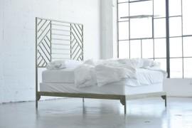 Metal geo bedframe from Jenifer Janniere Designs