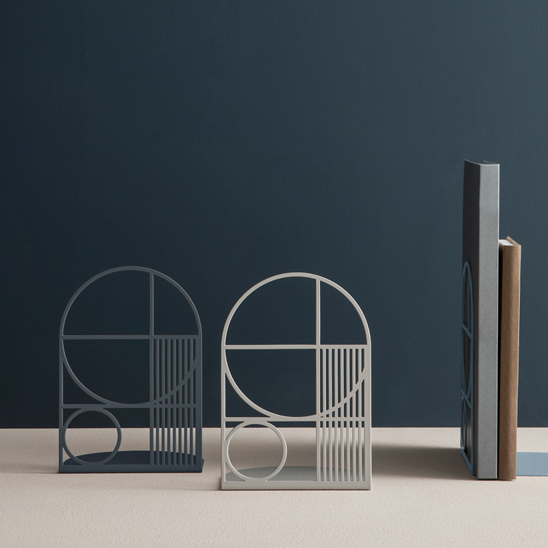 Metal geo bookends from ferm LIVING
