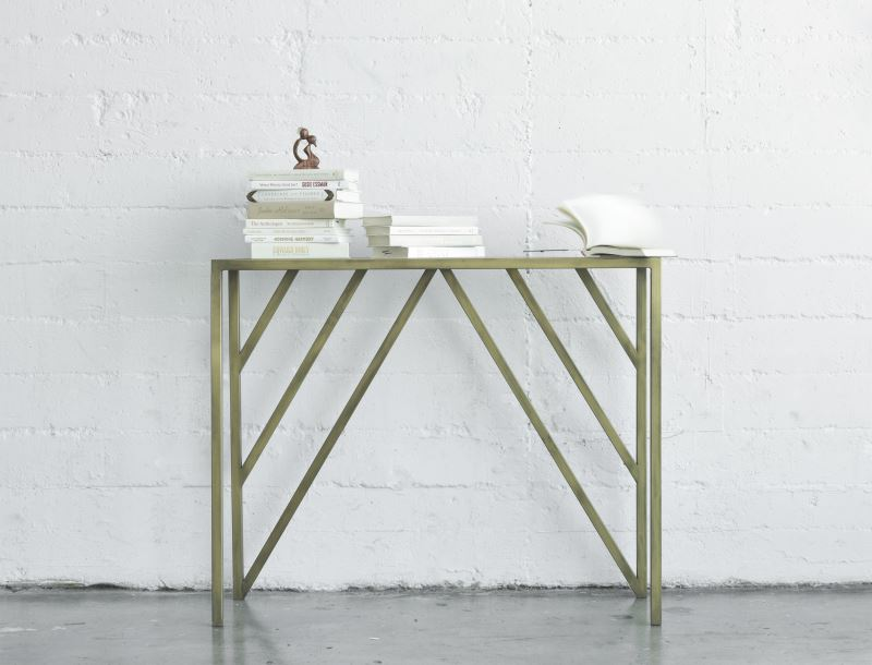 Metal geo console from Jenifer Janniere