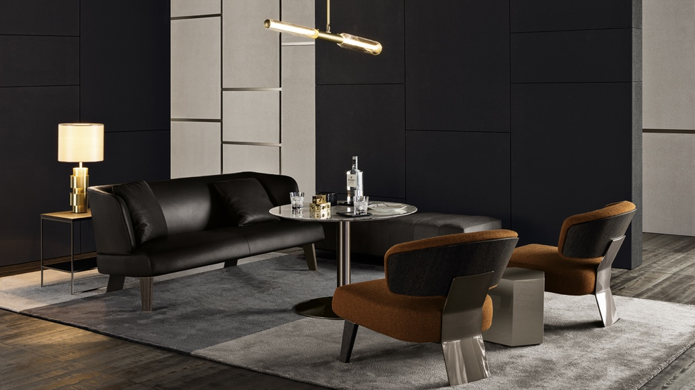 Minotti Creed sofa and chairs