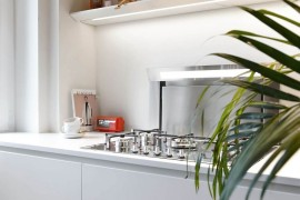 Modern appliances coupled with sleek, minimal design create a fabulous kitchen