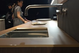 Multiple finishes offered by Leicht kitchens on display at EuroCucina 2016