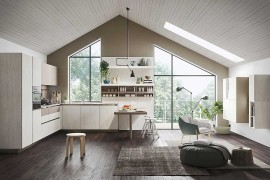 Open and spacious kitchen from Snaidero designed for those young at heart