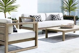 Outdoor seating from Restoration Hardware
