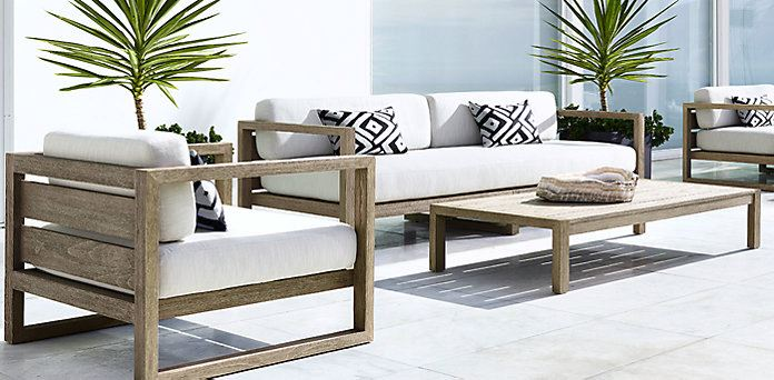Patio Furniture And Decor Trend Bold Black White