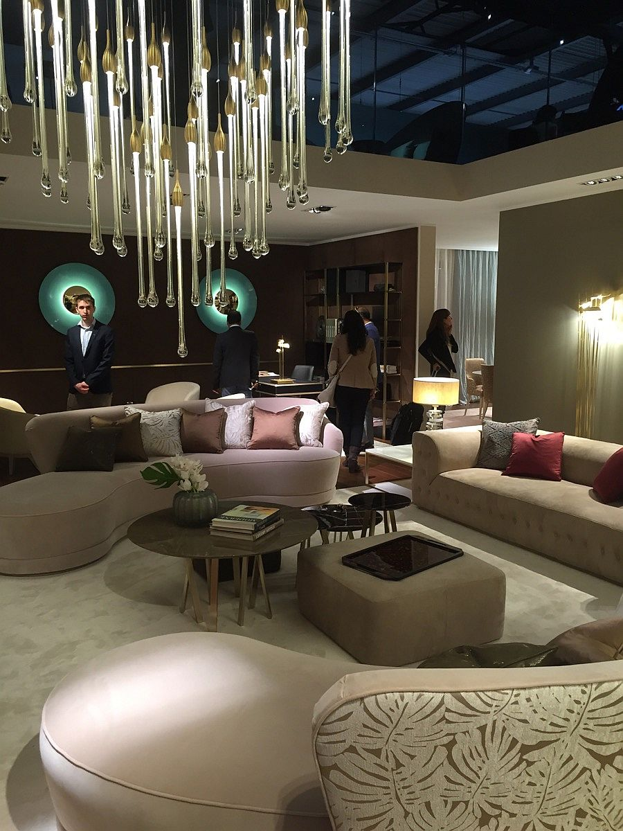 Paolo Castelli stand dazzles with decor and lighting