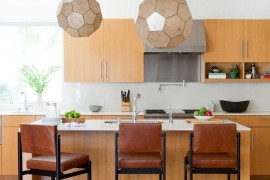Pendant lights with hexagonal pattern for the modern kitchen