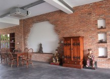 Perfect little niche in the brick wall to highlight sculptural additions