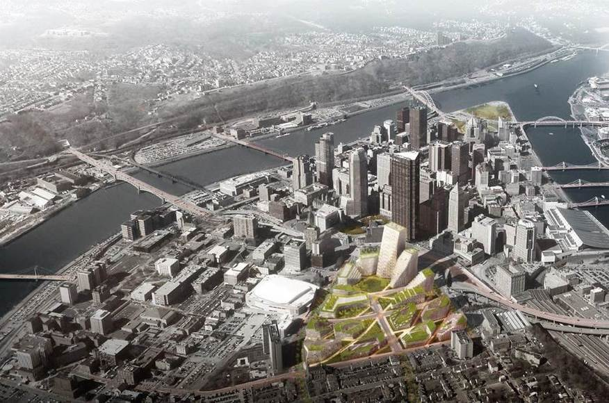 Pittsburgh Lower Hill Master Plan overview