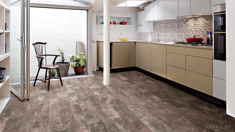 Wood-effect porcelain tile from Surface Art