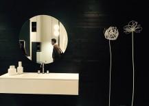 Refined, modern bathroom vanity with a dash of masculinity