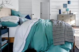 Refreshing white bedroom from West Elm