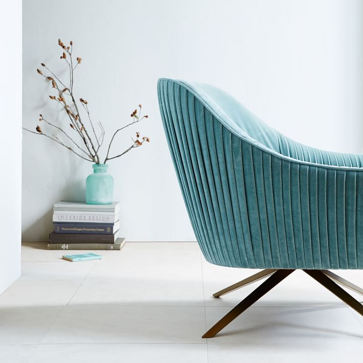 Roar + Rabbit swivel chair from West Elm