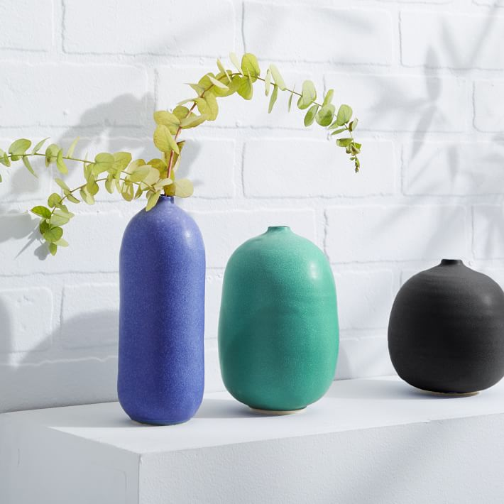 Round vases from West Elm