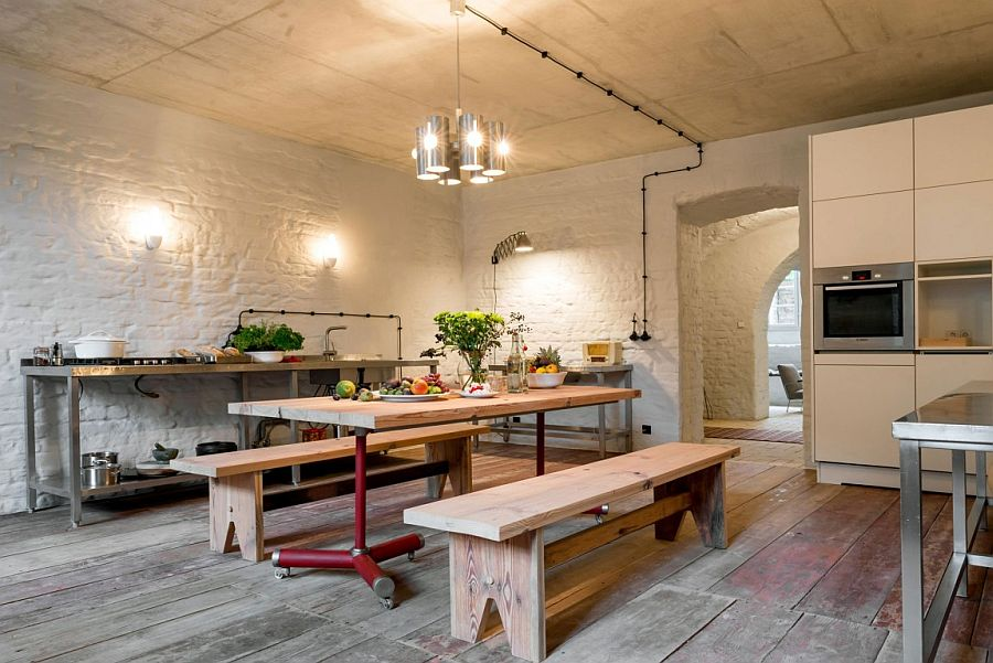 Rustic kitchen design of the Berlin apartment