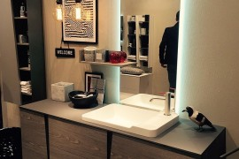 SMart bathroom design from Slaone del Mobile 2016