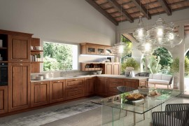 Series of closed wooden cabinets and open shelves for the modern kitchen 270x180 Contrada: Time for a Modern Vintage Makeover from Arrital