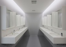 Shared bathroom facilities at Nine Hours in Kyoto