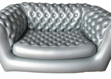 Silver chesterfield sofa from M2B