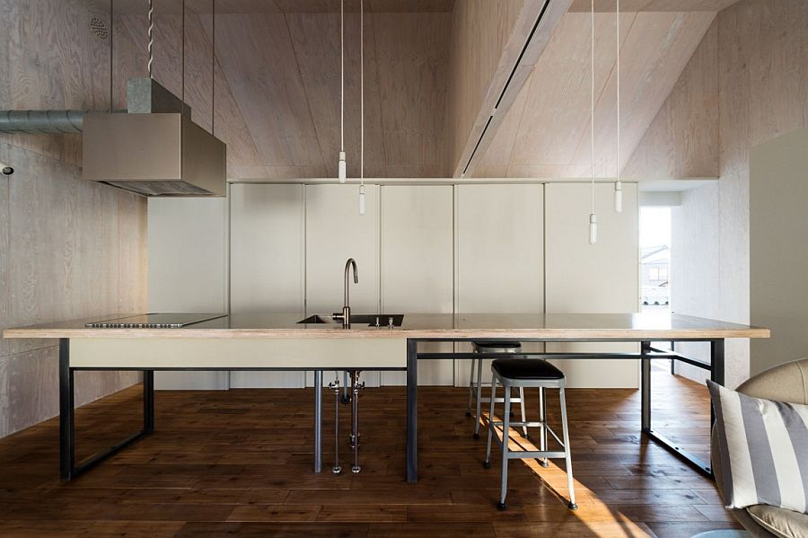 Simple and minimal kitchen design inside the Japanese home