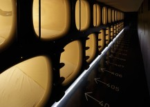 Sleeping pods at Kyoto's Nine Hours pod hotel