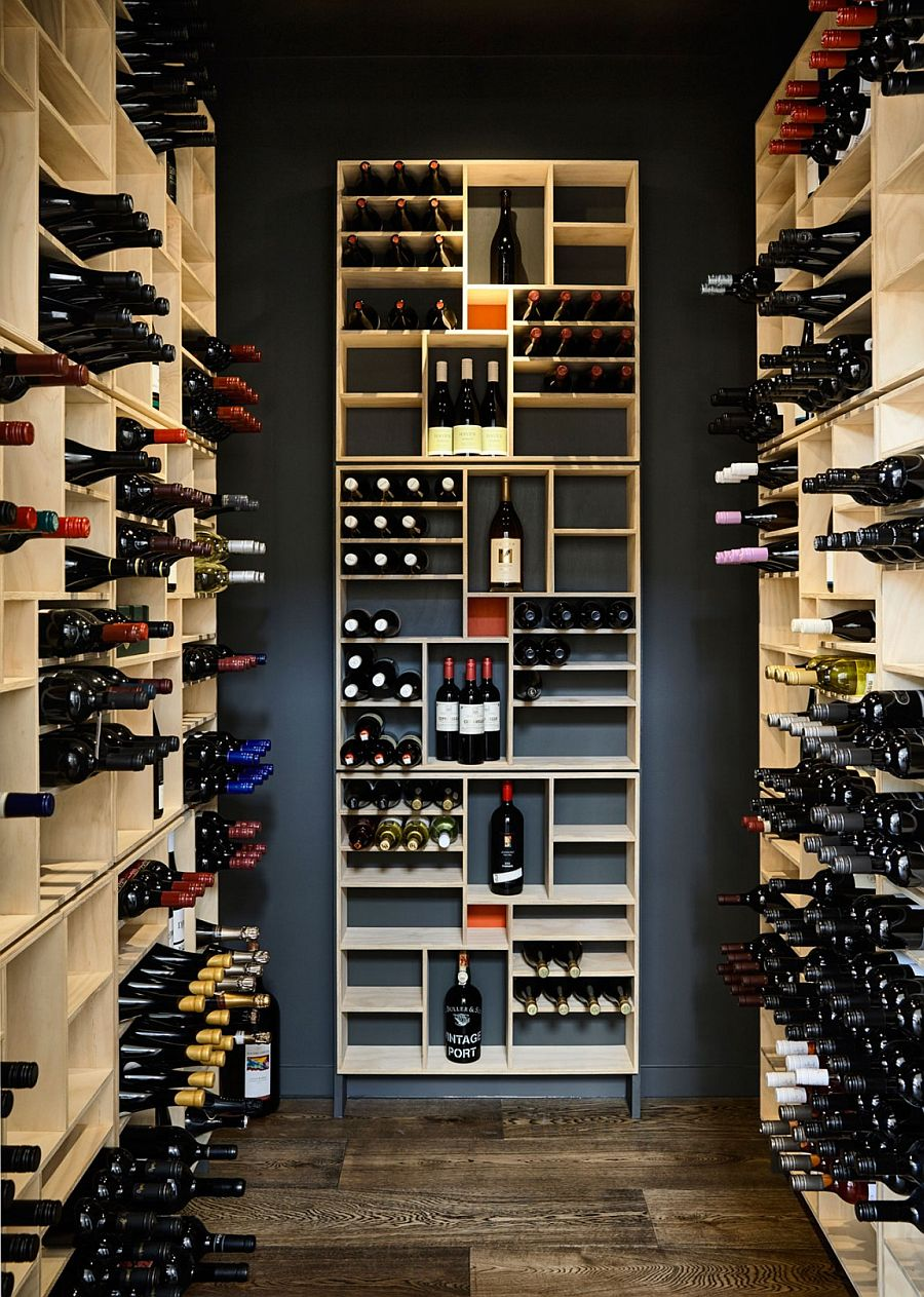 Small, contemporary wine cellar design