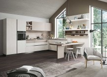Smart kitchen design with a breakfast counter that takes up little space