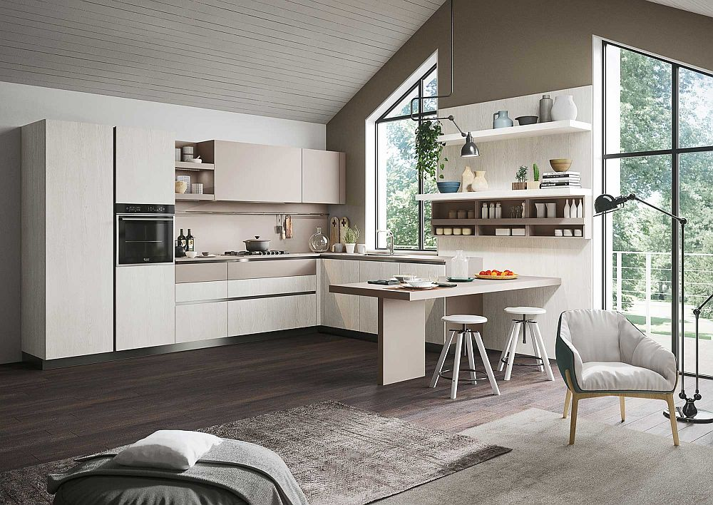 View In Gallery Smart Kitchen Design With A Breakfast Counter That Takes Up  Little Space Part 58