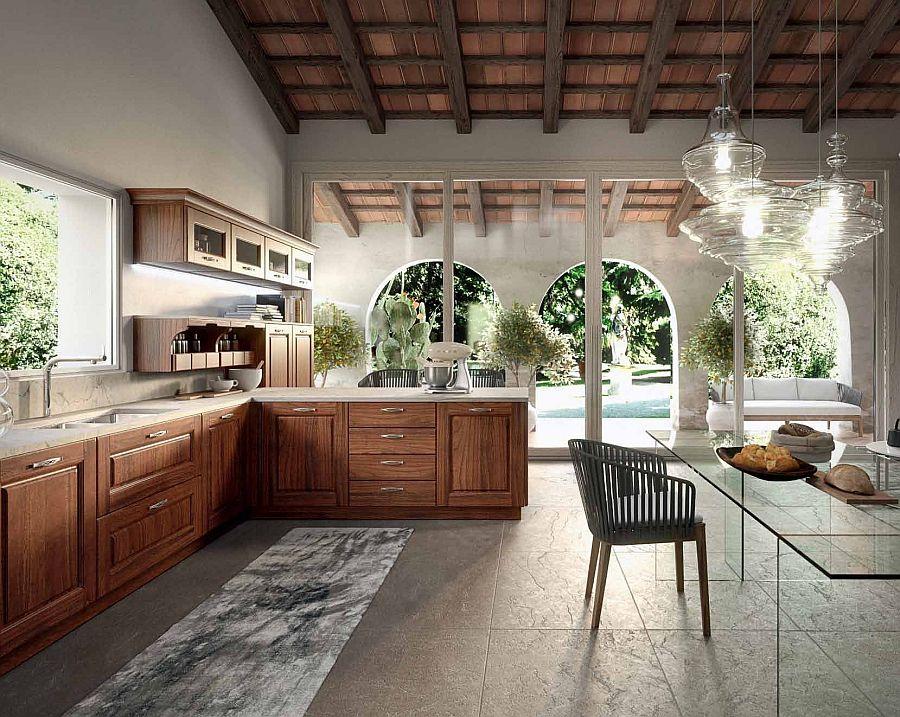 Smart modern kitchen design with vintage touches