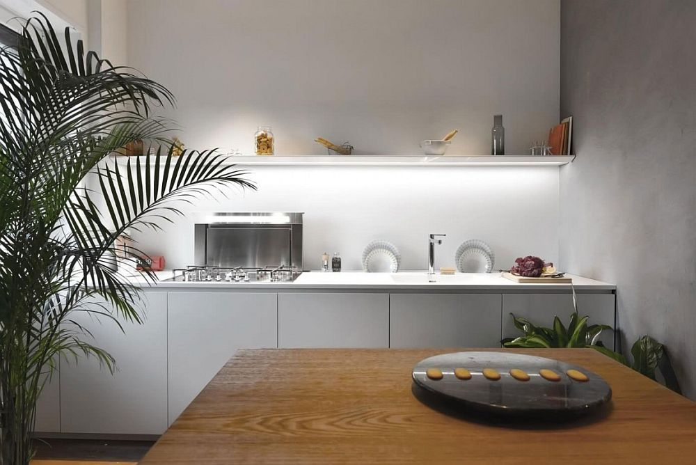 Smart modern kitchen of the apartment in Milan