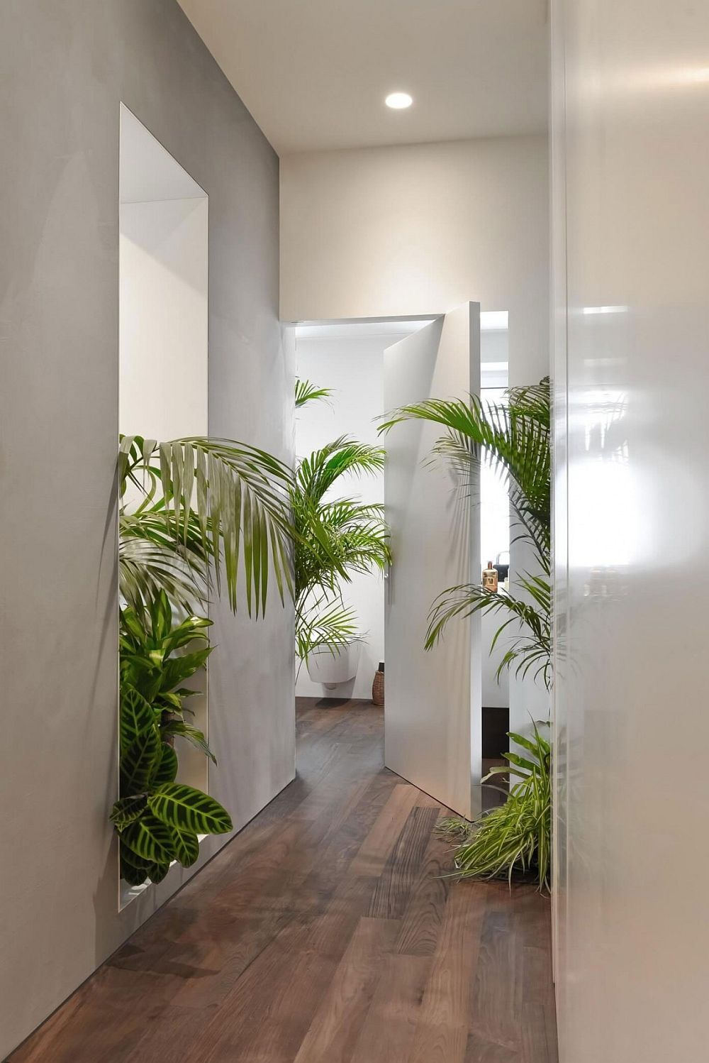 Smart partitions and greenery shape the fabulous Milan apartment