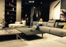 Sofa and coffe table at Natuzzi stand - Slaone del Mobile 2016