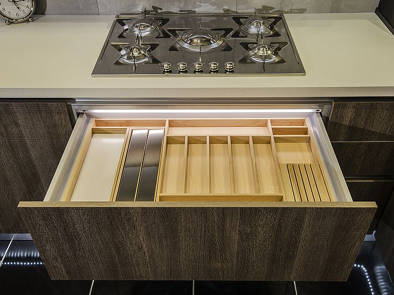 Space-saving features of the Arrital kitchen on display