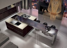 Steel, wood and polished surfaces come together inside modern kitchen from Arrital