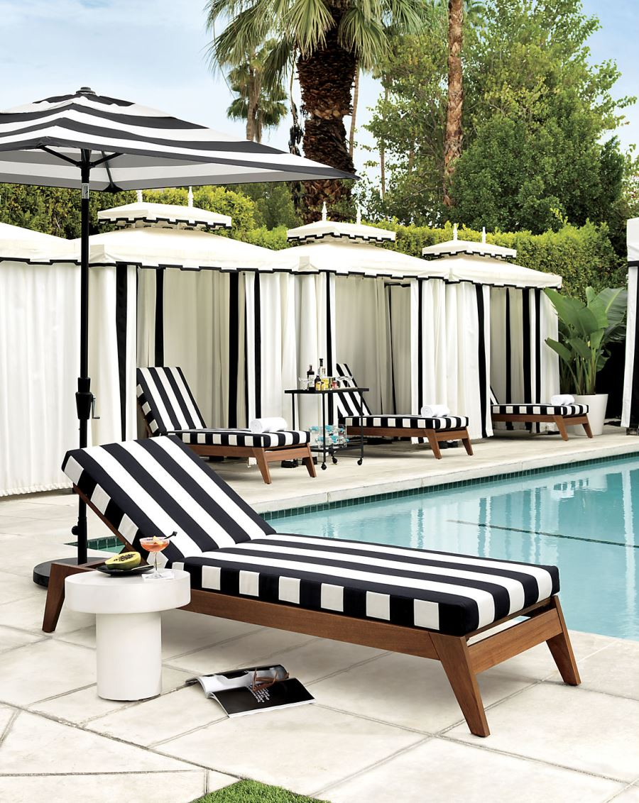 Patio furniture and decor trend bold black and white for Black porch furniture