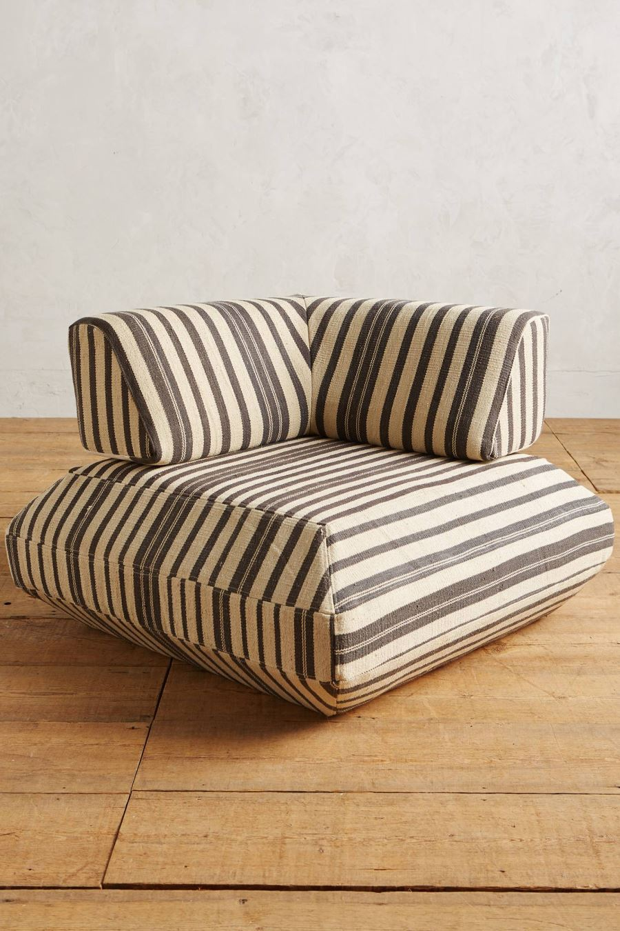 Striped modular corner chair from Anthropologie